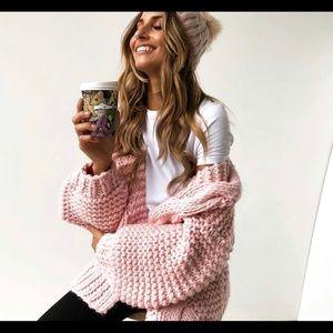 Oversized Pink Knit